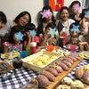 夏休み恒例!親子パン教室☆メロンパン&ベリーヨーグルトブレッド☆のレッスン始まりました〜!の画像