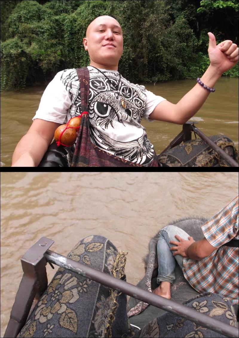 象に乗って川を渡って山登り!象の背中は広い☆22
