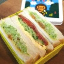 サンドイッチ弁当。
