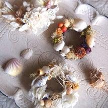 【ミニ貝殻リース作り…