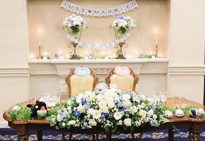 当日レポ25 披露宴 テーブル装花 お値段公開中 ミミの日記