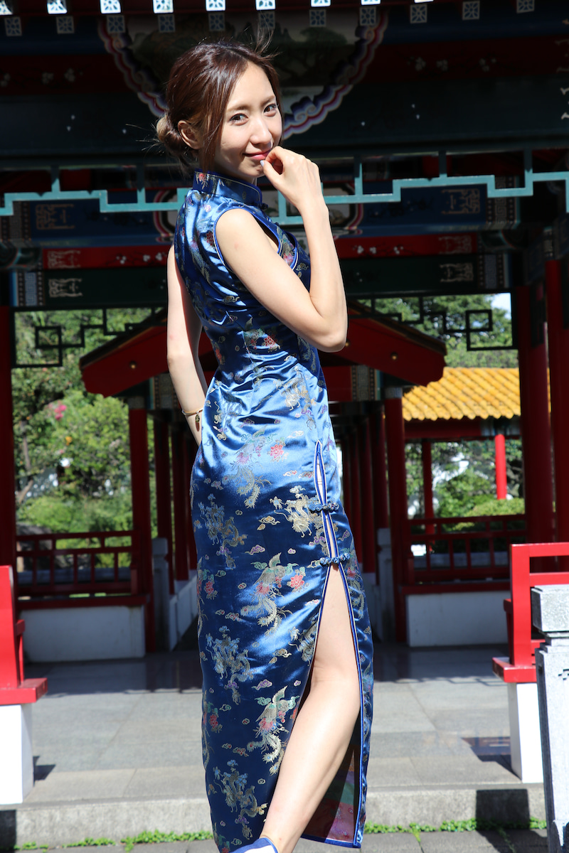 某○○○で撮影会な水村リアちゃん、チャイナドレス編ファイナル。