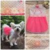 ケミカルレースとストレッチレースを使用した犬のお洋服の画像