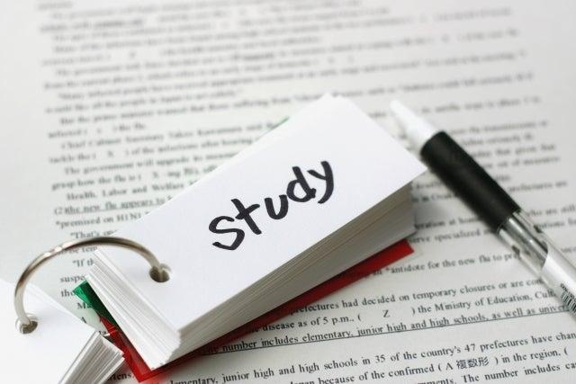 studyと書かれた単語帳