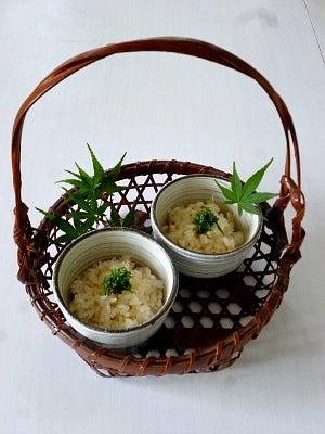 新生姜ご飯を涼を感じる食卓で