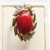 血赤の珊瑚のリングの画像