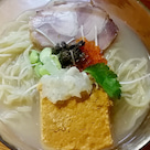 【数量限定】冷やし貝鮮丸オマール海老の茶碗蒸し乗せ950円@はりけんラーメン 南店(つくば市)の記事より