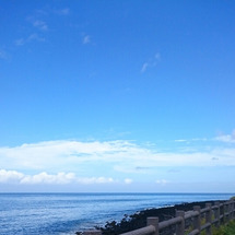 嵐の前の今日の海