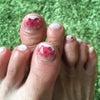 足に華を咲かせましょう❤㊷ 押し花ネイルの画像
