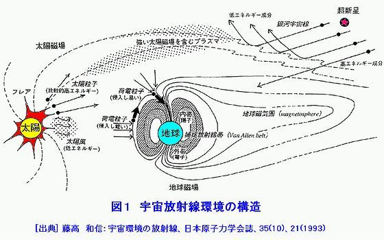 宇宙放射線環境の構造