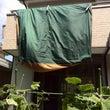 雨で撤収したテントの…