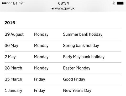 bank holiday バンクホリデー | あんとわねっと@UKのブログ