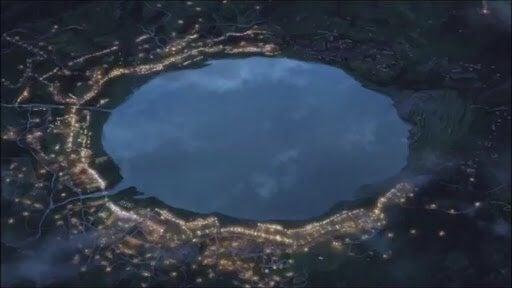 湖の周りの街並みの感じが糸守町の湖の感じにそっくりでした(^∇^)