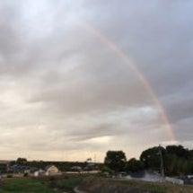虹を見た朝