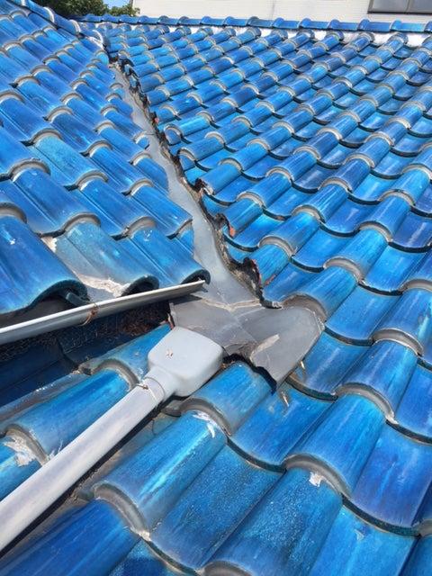豊中市にて雨漏り、屋根修理へ!