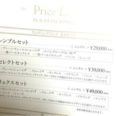 ドレス小物のレンタル費用高い!の記事に添付されている画像