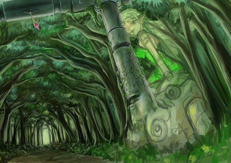 イラストメイキング01大ラフから背景下地塗りまで Ryoの独り言room