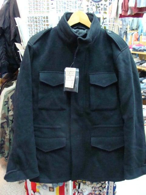 【未使用品】 無印良品 フレンチウール混メルトン フィールドジャケット 黒 M