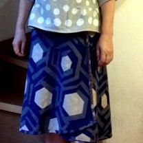 リバーシブルのスカートとWガーゼのブラウスできましたの記事に添付されている画像