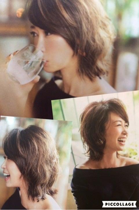 今回はカットのみで リクエストは辺見えみりの髪型で 広島ワンダー