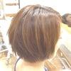 ショートヘアアレンジ〜エレガントな大人スタイルですの画像