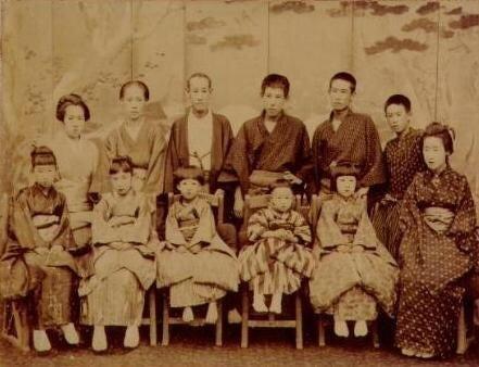 最後の長府藩主ご一家の写真   日本の歴史と日本人のルーツ