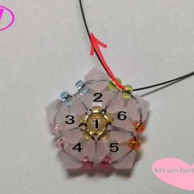 鈴入り花編みボールの作り方②♪の記事に添付されている画像