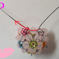 鈴入り花編みボールの作り方④♪の記事に添付されている画像