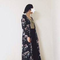 花柄マキシ丈シャツワンピの記事に添付されている画像