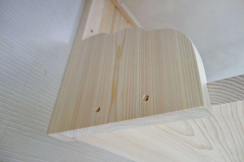 国産桧木で作る神棚板セットの取付工事
