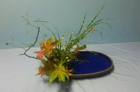 秋の生け花