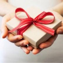 頂いたプレゼントをビ…