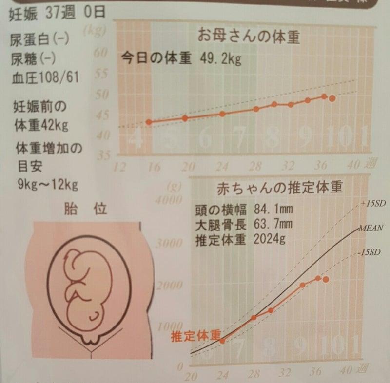 臨月体重増加