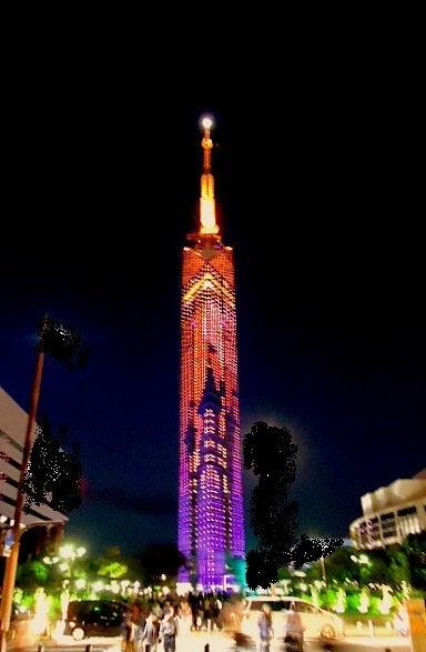 「福岡タワー ハロウィンイルミネーション 画像」の画像検索結果