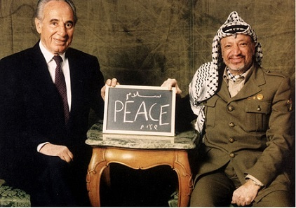 Image result for shimon peres yasser arafat