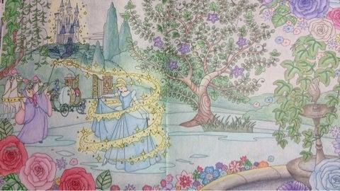 塗り絵旅するディズニー シンデレラ 大人の塗り絵と時々日常のこと