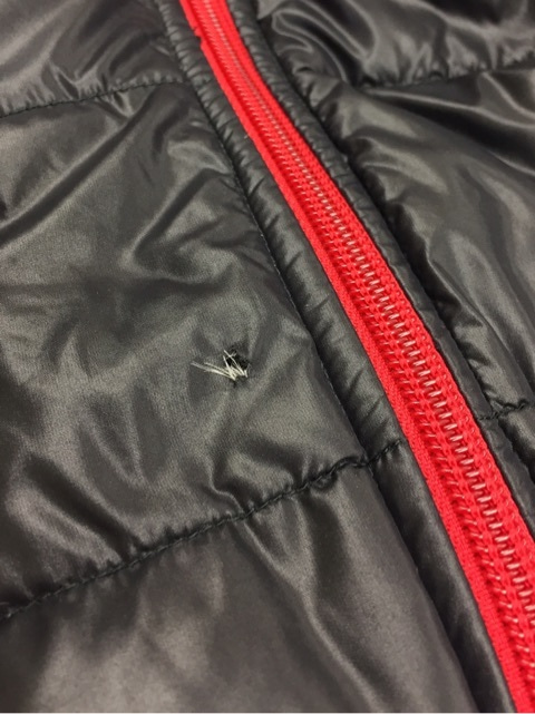 ダウンジャケットの穴あきを修復しましたの記事より