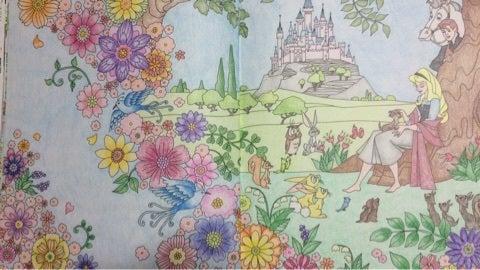 塗り絵旅するディズニー 眠れる森の美女 大人の塗り絵と時々日常のこと