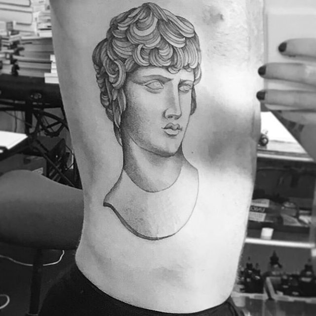 Adam lambert antinous tattoo for Adam lambert tattoos