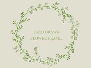 手書きの花フレームのイラスト リース型2種 Nancysdesignイラスト部