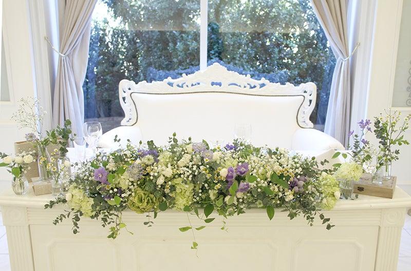 しあわせはこび隊 ポポの活動日記結婚式の会場装花~ナチュラル装花……淡パープルを添えて……~コメント