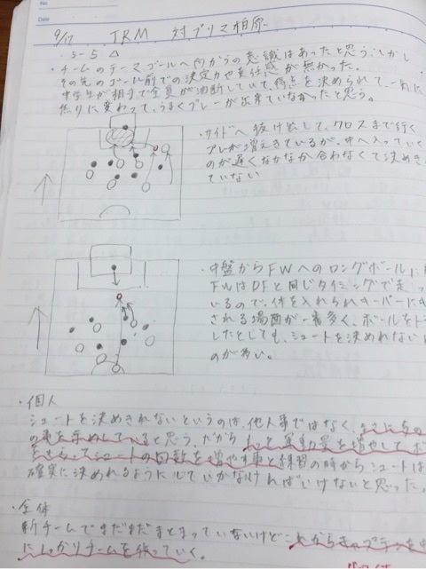 サッカーノートの書き方がうまく...