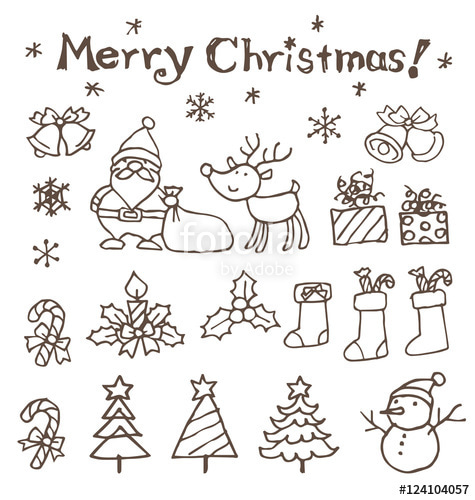 クリスマス イラスト 手書き簡単 , paintschainer