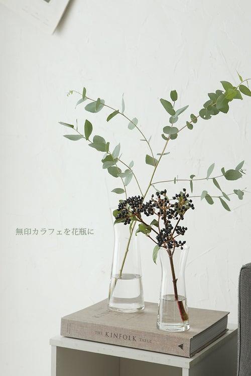 無印のカラフェは花瓶にも使えます!