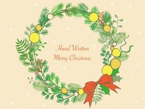 手書きのクリスマスリースのイラスト2種 Nancysdesignイラスト部
