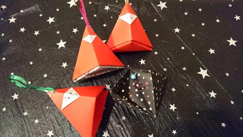 クリスマス 折り紙 サンタ 折り紙 立体 : ameblo.jp