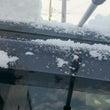 朝から雪。