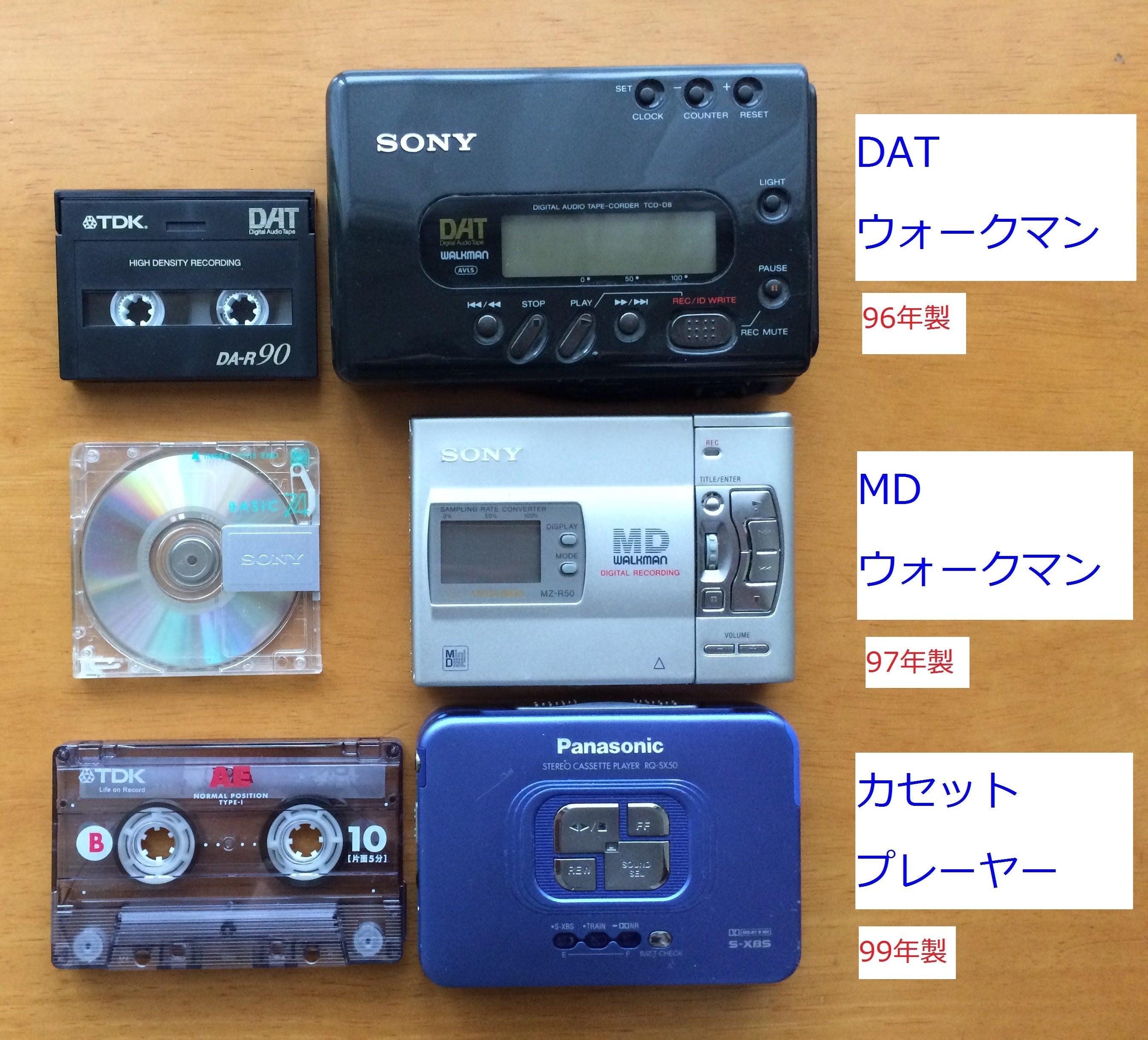 カセットテープ、DAT、MDウォークマン今でも現役で活用しています ...