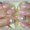ピンク×パールネイルの画像