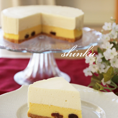 チーズケーキ好きに捧げる*二層のチーズケーキの記事に添付されている画像